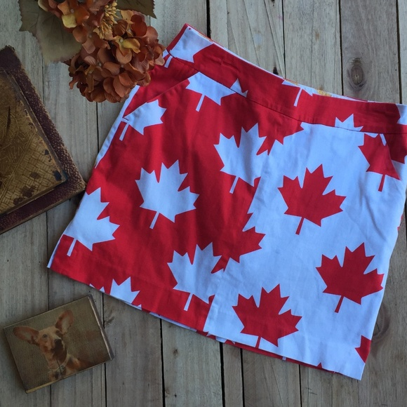 e31a4ebf8fd3 Loudmouth Golf Pants - Loudmouth Golf Ladies Canada Maple Leaf Skort (6)